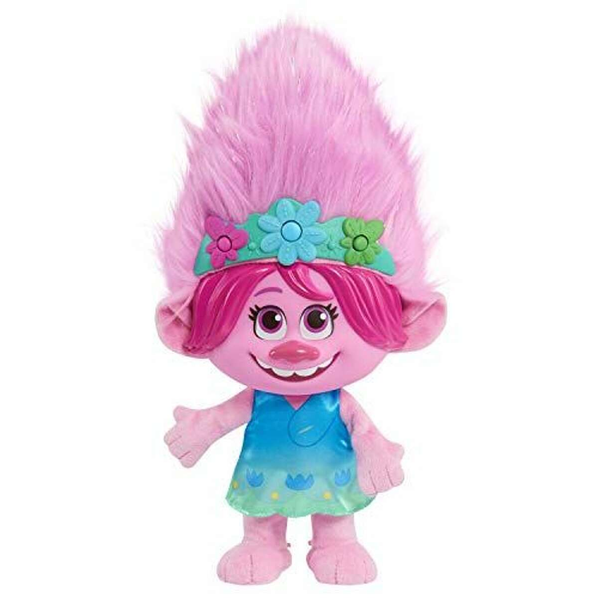'Trolls World Tour' Color Poppin' Poppy: $19.79 Shop Now This Poppy plush is just as energetic and musical as you'd want her to be. She can play games like Poppy Says, sing songs like
