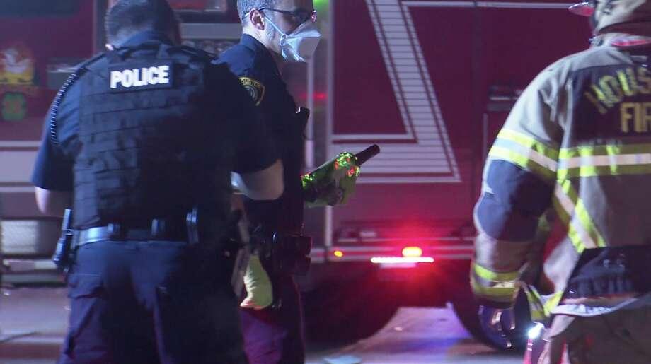 Houston police investigate a deadly crash along U.S. 290 near Antoine Drive on Wednesday, June 24, 2020. Photo: OnScene.TV