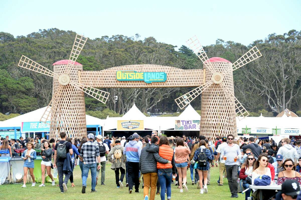 Festival goers are seen under the Windmill during the 2016 Outside Lands Music And Arts Festival at Golden Gate Park on August 7, 2016 in San Francisco, California.