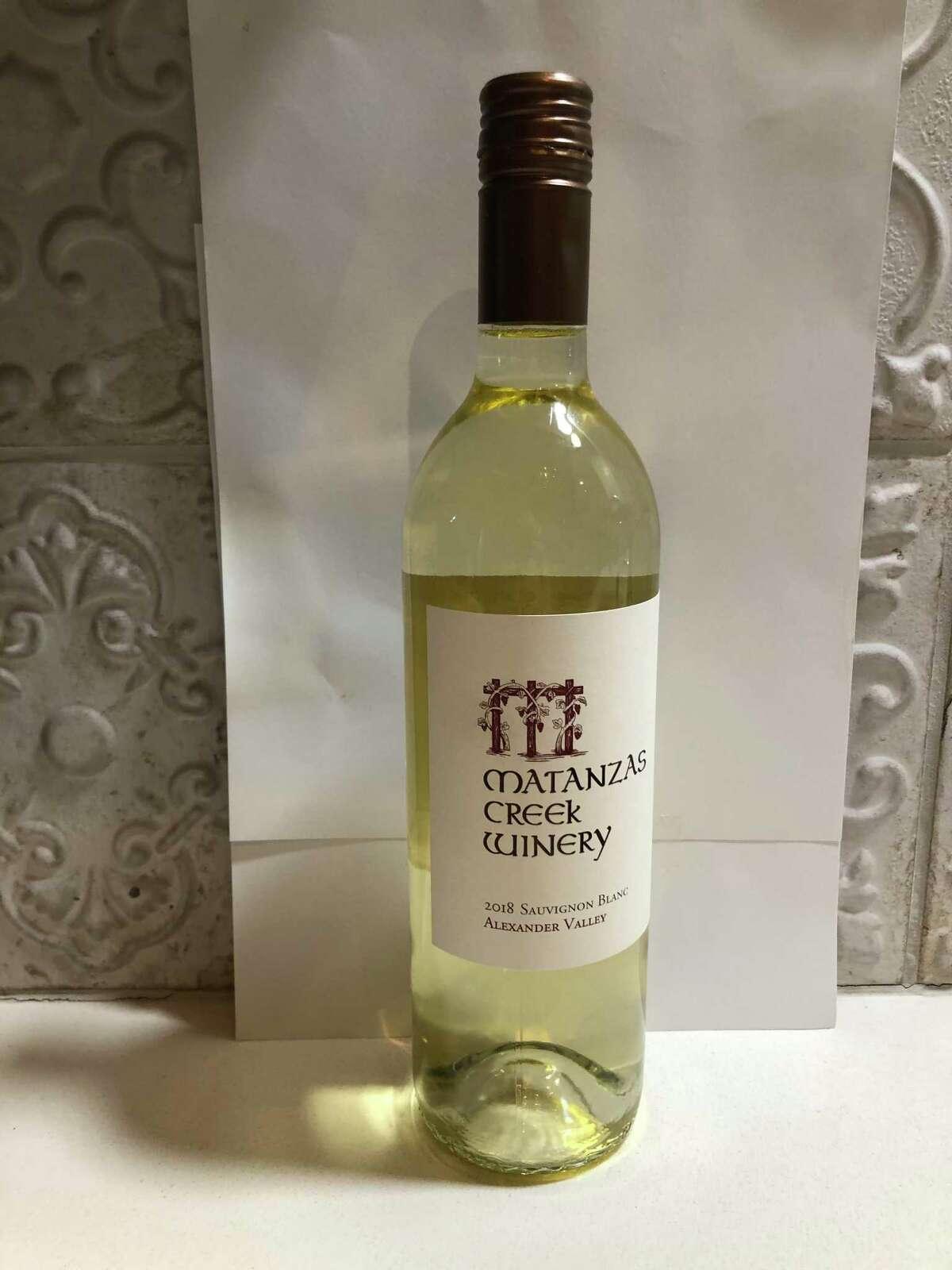 2018 Matanzas Creek Winery Sauvignon Blanc Alexander Valley