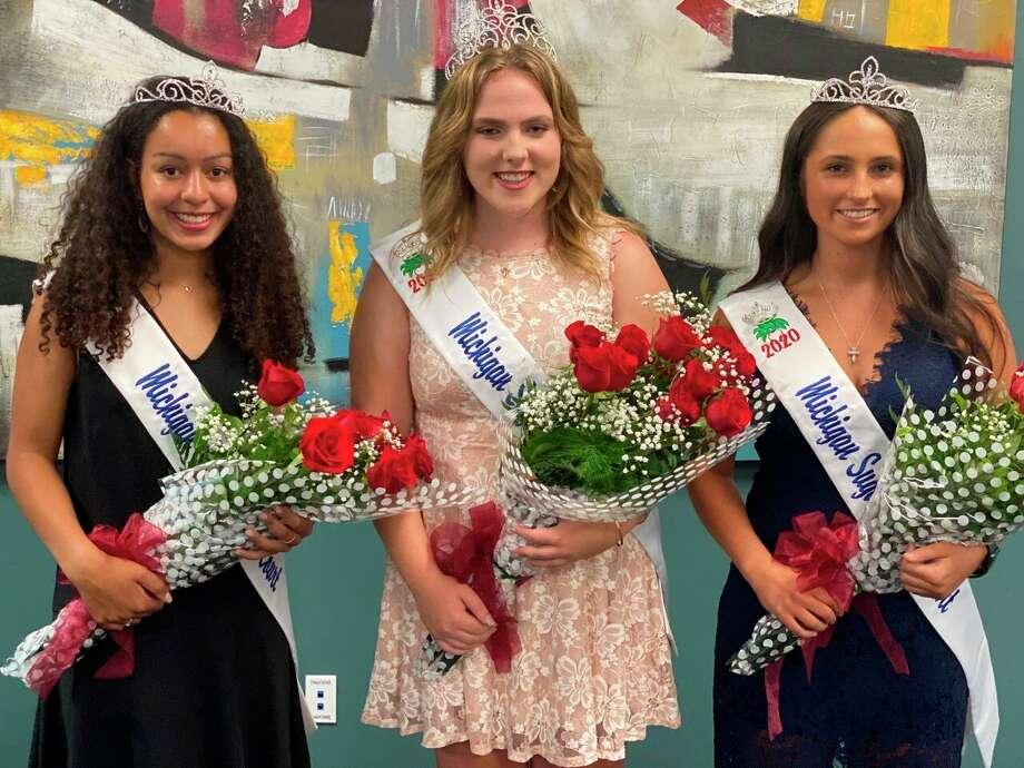 Shaelynn Lavrack of Montrose was crowned 2020 Michigan Sugar Queen, standing alongside Attendants Haley Bell of Bay City, Alayna Celestini of Macomb. (Courtesy Photo)