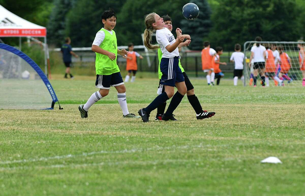 Youth soccer programs return to Wakeman Park on Wednesday, June 24, 2020, in Westport, Connecticut.