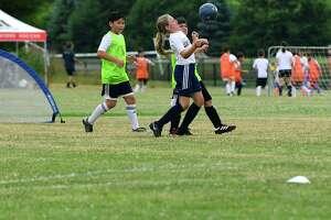 Youth soccer programs return to Wakeman Park Wednesday, June 24, 2020, in Westport, Conn.