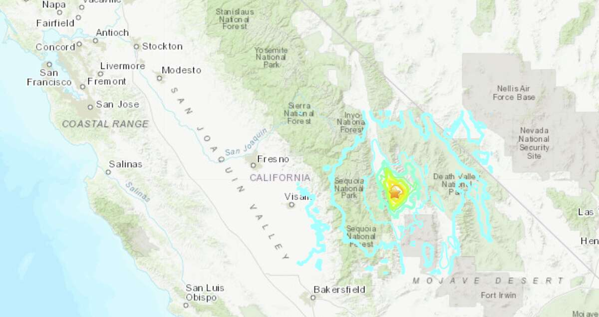 An earthquake with a magnitude of 5.8 shook Central California late Wednesday morning.