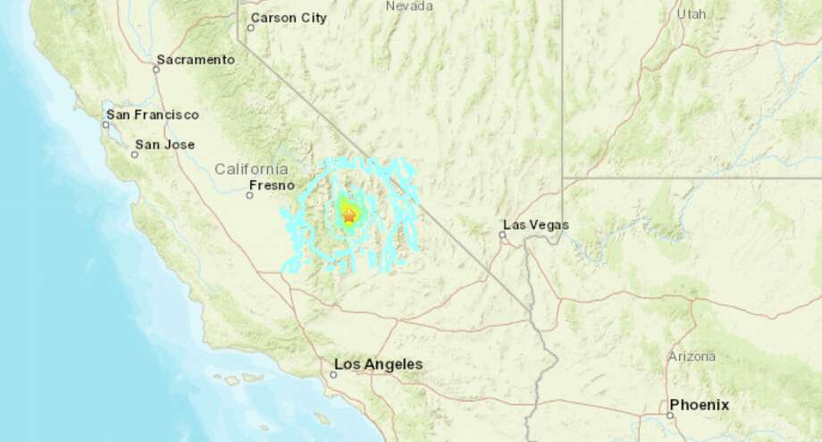 A magnitude-5.8 earthquake shook the eastern Sierra region of California Wednesday morning. The quake was centered near Lone Pine. Photo: USGS