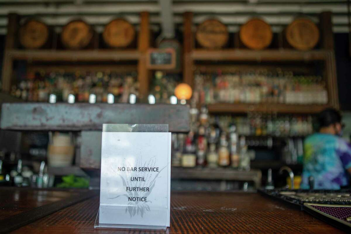 People are not allowed to sit or stand at the actual bar, Friday, May 22, 2020, at Eight Row Flint in Houston. Friday was the first day that bars were allowed to reopen in Texas, but the rules say that only table service is allowed, much like the rules in place for restaurants.