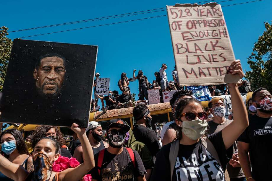 Thousands of people took part in a student led George Floyd protest that began at Mission High School in San Francisco on Wednesday, June 3, 2020. Photo: Nick Otto / Special To The Chronicle