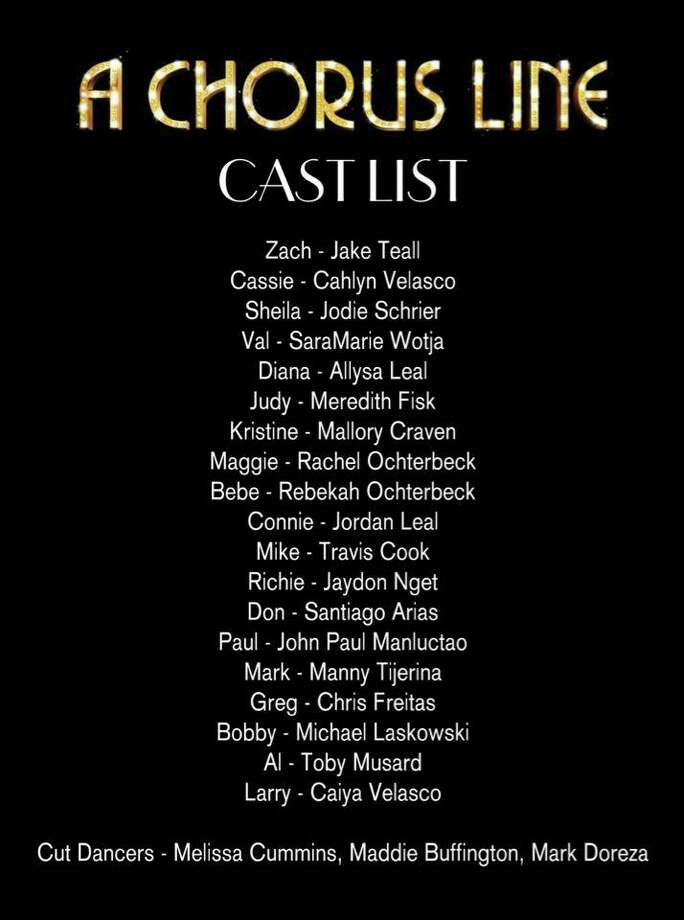 "The Players Theatre Company opens ""A Chorus Line"" tonight (June 26) at the Owen Theatre in downtown Conroe. The cast is featured in the attached graphic. Photo: Graphic Courtesy The Players Theatre Company"