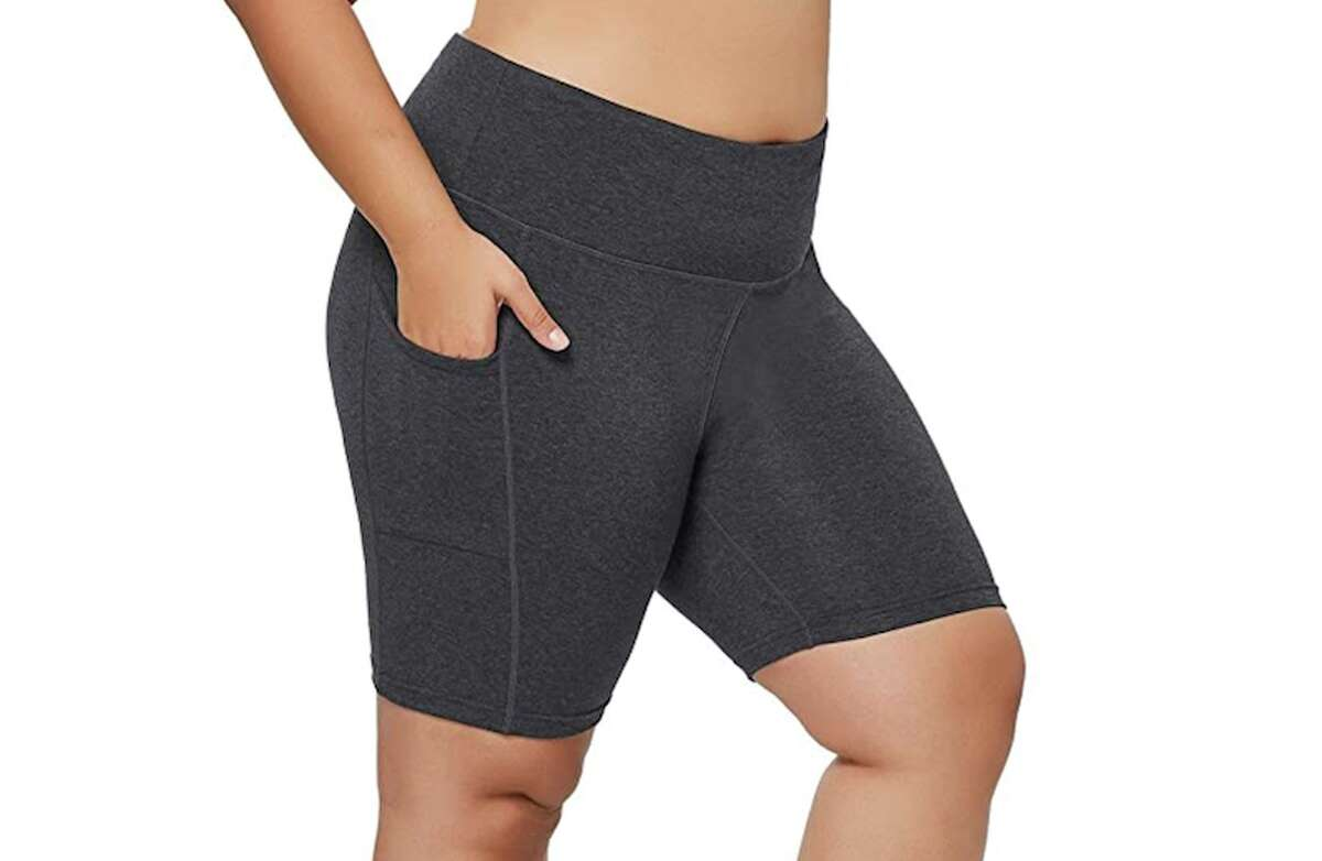 BALEAF Women's High Waist Compression Exercise Shorts Price: $20.99 to $43.99 (Available in 33 styles) Women's shorts (or pants in general) with functional pockets are practically a myth, but these BALEAF Women's High Waist Compression Exercise Shorts show the legends are true. There are 33 styles to choose from, varying in color, size and cut. The tight side pocket is perfect for slipping your phone, keys, or a credit card inside for safe storage on a run.