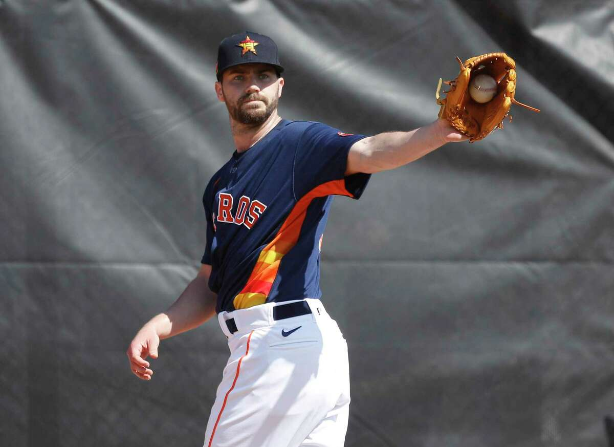 Houston Astros pitcher Austin Pruitt (51) during the second day of the Houston Astros spring training workouts at the Fitteam Ballpark of The Palm Beaches, in West Palm Beach , Friday, Feb. 14, 2020.