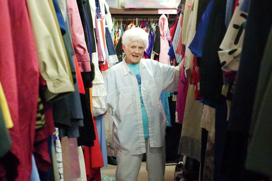 Bay Area Harbour Playhouse art director Bennie Nipper claimed to know almost every costume in the wardroom room at the Bay Area Harbour Playhouse. Photo: Kirk Sides / Houston Chronicle / © 2018 Kirk Sides / Houston Chronicle