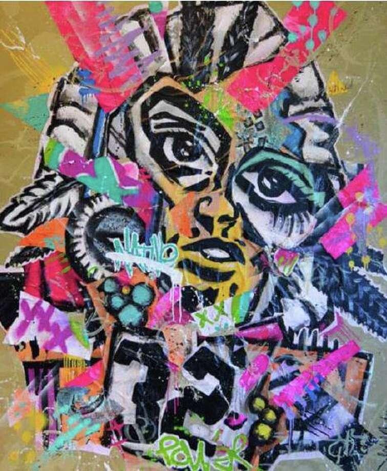 'Restless Native' is artwork by Norwalk artist Jahmane Photo: Contributed / Bruce Museum