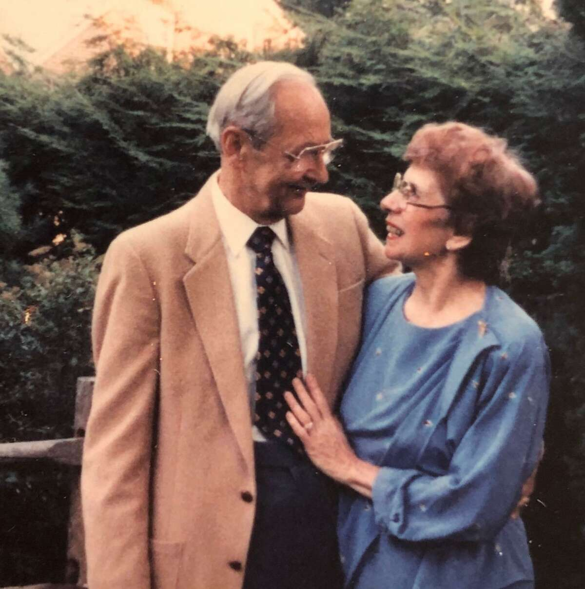 Al and Phyllis Antonetz pose in a family photo from the mid-1980s. Phyllis Antonetz died of complications of the coronavirus on April 17, 2020, at 103.