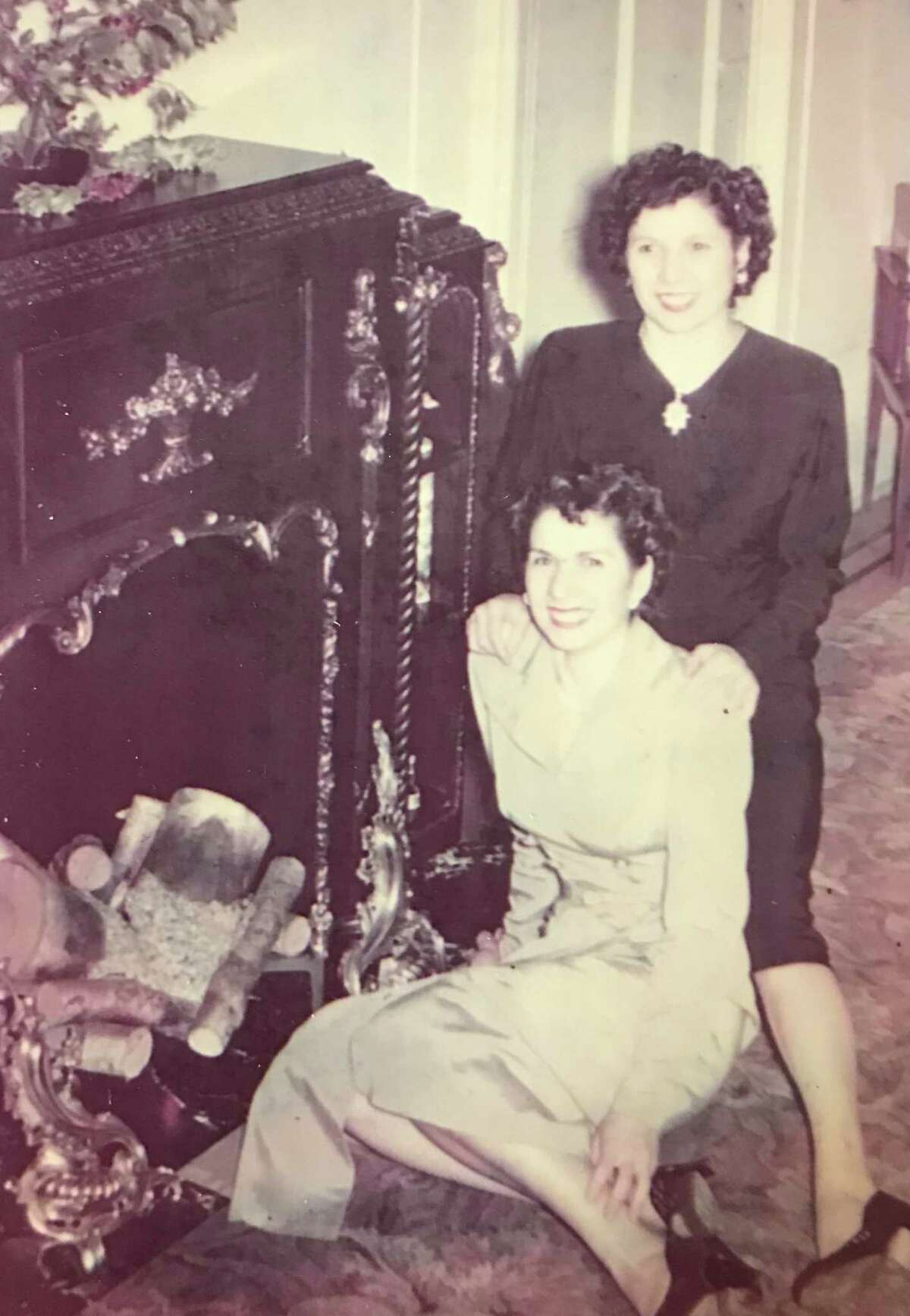 Phyllis Antonetz, seated, poses in an undated family photo with her sister, Mary. Phyllis Antonetz died April 17, 2020, of complications of the novel coronavirus.