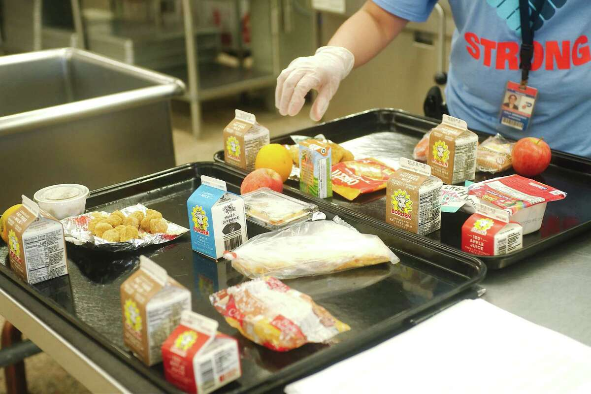 A typical food package provided during the Seamless Summer Meals Program at Pasadena ISD campuses including Sam Rayburn High School.
