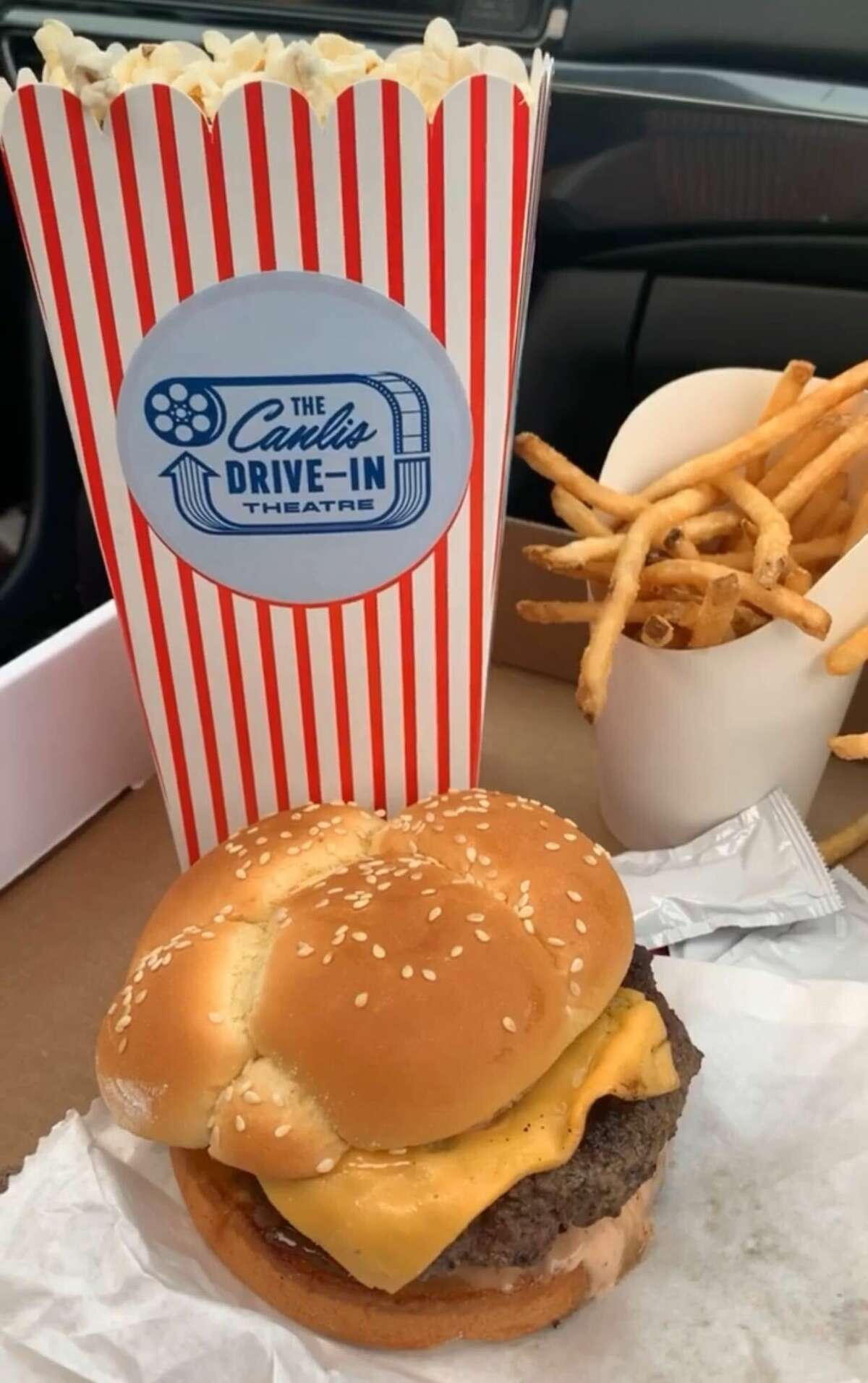 Menu items from the Canlis drive-in theater on June 23, 2020.