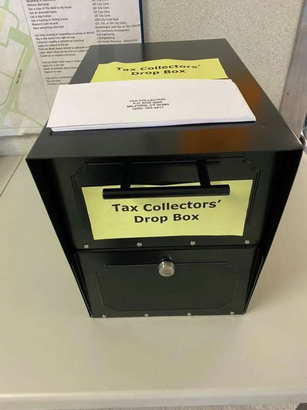 The city of Milford Tax Collector policy on delinquent payments is on its website.