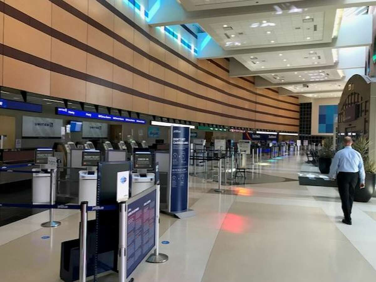 Albany International Airport was almost deserted on Wednesday afternoon.