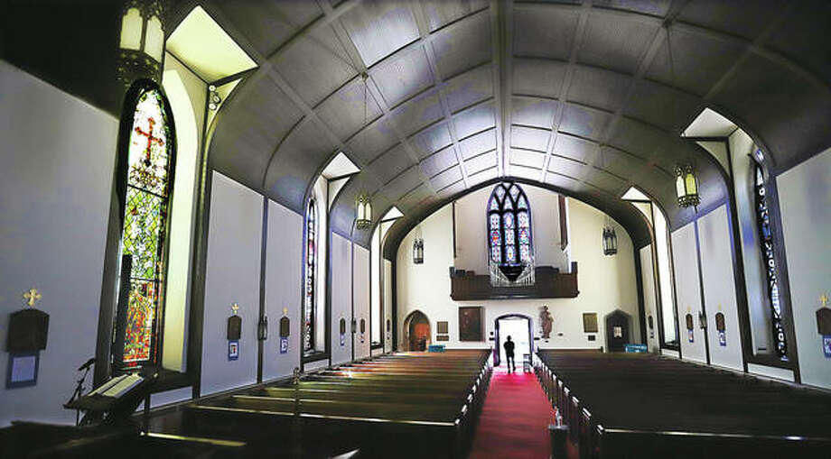 The sanctuary of the oldest church in Alton — St. Paul Episcopal Church, built in 1836 — was largely spared from the Tuesday fire that gutted an adjacent and connected building. Some water damage in the back of the sanctuary and smoke damage throughout was all it recieved after firefighters from Alton, Godfrey, East Alton and Black Jack, Missouri, contained the fire to the one structure. Workers from the disaster mitigation company, ServiceMasters, were cleaning up water damage inside Wednesday. A prayer service in the courtyard is planned for 7 p.m. Thursday to give thanks that the fire wasn't worse.