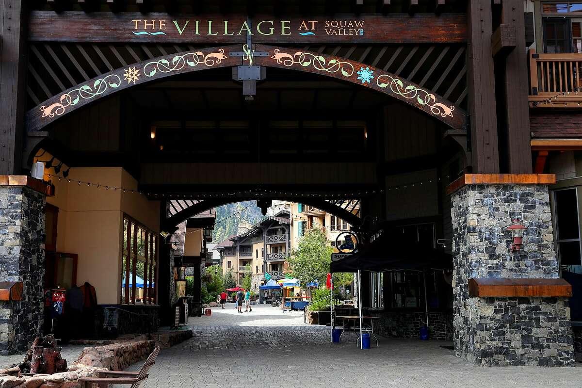 The Village at Squaw Valley Ski Resort on September 15, 2017.