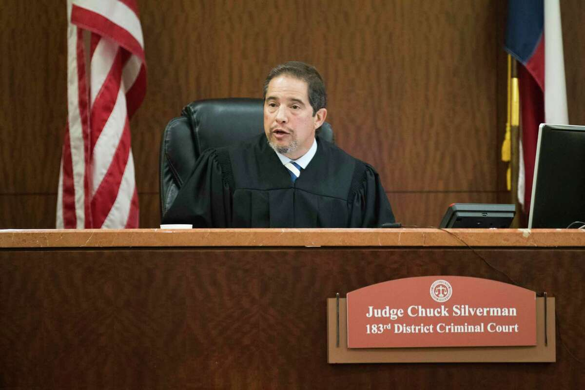 Judge Chuck Silverman minutes before the hearing of defendant Kendrick Johnson on Wednesday, June 5, 2019, in Houston.