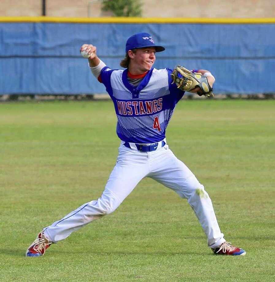 Midland Christian shortstop Cody Grebeck throws the ball during a baseball game. Photo courtesy of Dana Marsh Photo: Dana Marsh