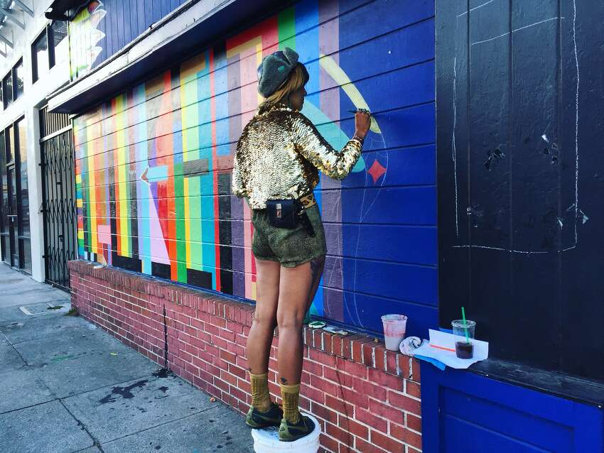 What Thustra didn't expect, however, was that the mural would be removed during Pride week: a time when people planned to take photos of the art and bid the Stud one last goodbye.