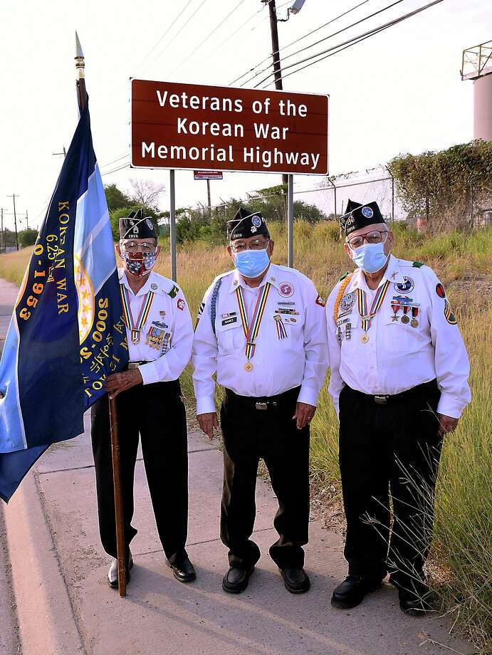 Korean War veterans, Ernesto Sanchez, Nicolas Nanez and Salvador Sciaraffa will be marking the 70th anniversary of the start of the Korean War, Thursday, June 25, 2020. Photo: Cuate Santos / Laredo Morning Times / Laredo Morning Times