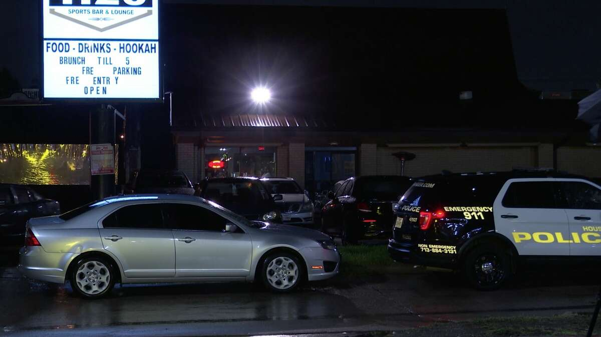 Houston police investigate a deadly shooting after a bar fight spilled onto the streets along Richmond Avenue near Fondren Road on Wednesday, June 23, 2020.