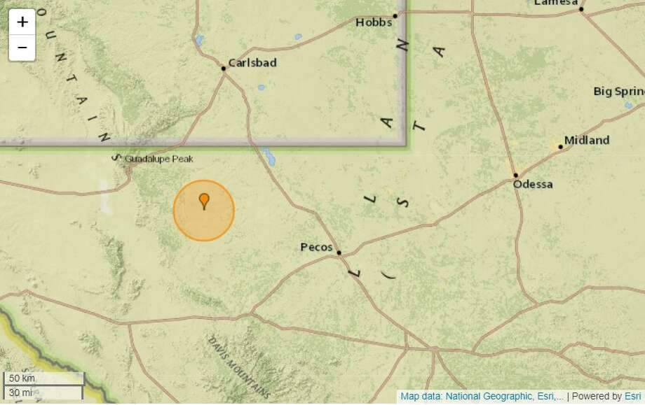 Earthquaketrack.com reported on its website that the Wednesday tremor was a 2.9-magnitude quake. It took place at 7:24 a.m., 44.1 miles west of Mentone. Photo: Earthquaketrack.com