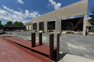 New maintenance bays are under construction as new expansion work is being done at the bus garage as CDTA on Thursday, June 25, 2020 in Troy, N.Y. The garage is preparing for the introduction of its new Bus Rapid Transit Blue Line which will serve riders along the Hudson River between Albany, Troy and Waterford. (Lori Van Buren/Times Union)