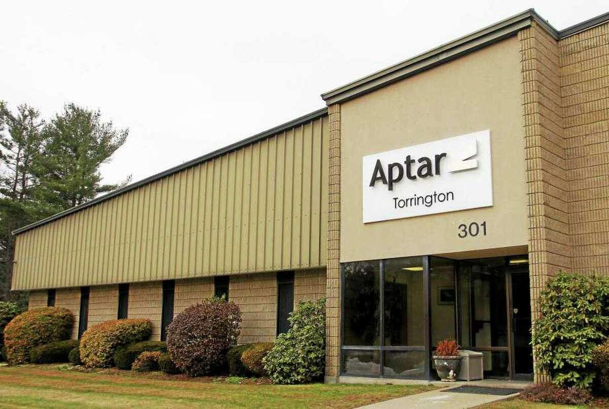 Aptar's manufacturing facility at 301 Ella Grasso Ave. in Torrington, Conn. (Photo credit: Esteban L. Hernandez, Register-Citizen)