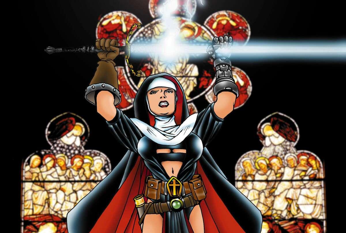 Warrior Nun Areala art by creator Ben Dunn.