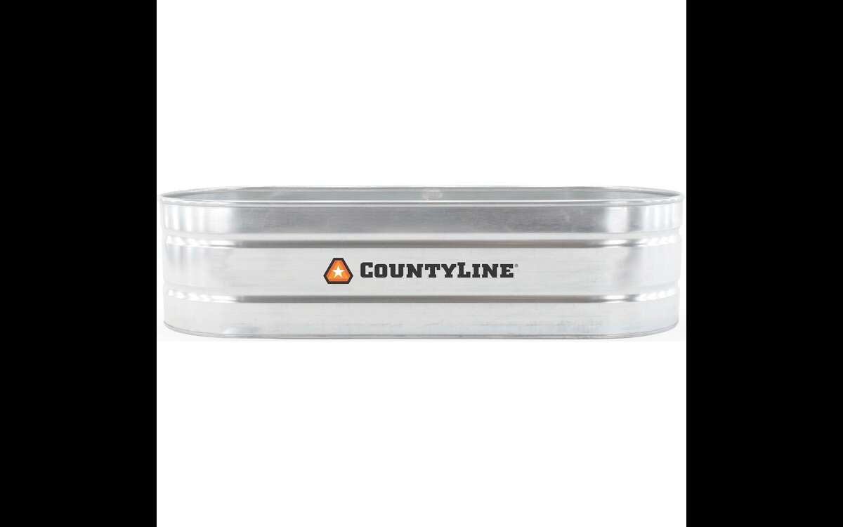 CountyLine Galvanized Oval Stock Tank, 3 ft. W x 2 ft. H x 8 ft. L $279.99Tractor Supply This is as close to the typical, round stock tank pool you'll find available anywhere right now. The rub is, you can order this 300-gallon tank online, but you'll have to do curbside pickup. Their availability will depend on where you live; for example, they're hard to come by in Northern California, but available at a ton of stores in Texas. Check the Tractor Supply website for pickup availability near you.