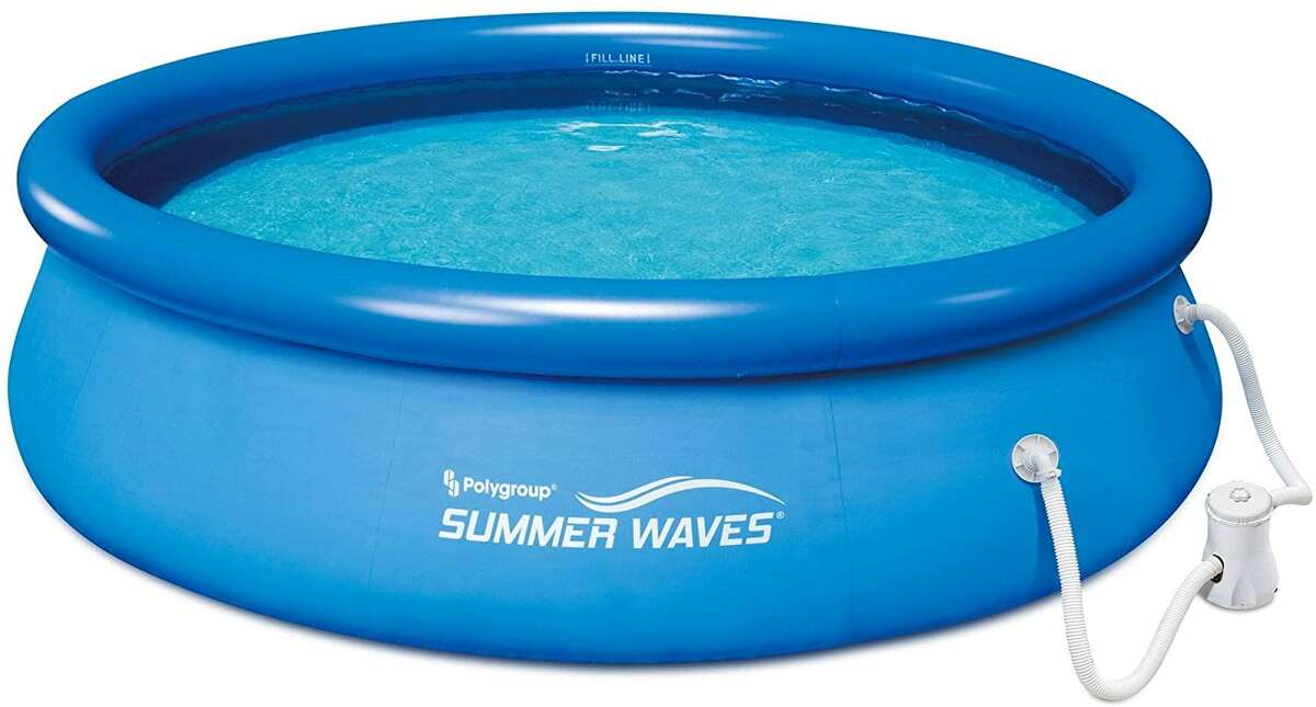 Summer Waves 10ft x 30in Quick Set Inflatable Above Ground Pool with Filter Pump $225Amazon This is the best-selling above-ground pool on Amazon (outside of inflatable kiddie pools). It has a 600-gallon capacity, and comes with a filter pump, which is essential for keeping your pool water clean if you don't want to be dumping it out all the time, given their propensity to pick up bugs, algae and all sorts of other fun summertime gunk.