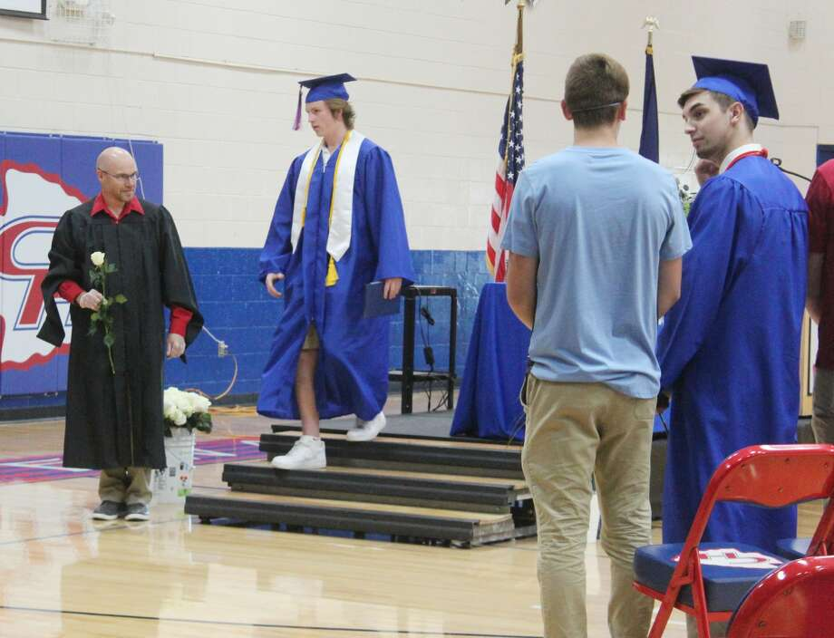 Chippewa Hills High School Class of 2020 seniors received their diplomas Thursday. The school hosted small group commencements, allowing students to graduate while still abiding by social distancing guidelines. Photo: (Pioneer Photos/Catherine Sweeney)