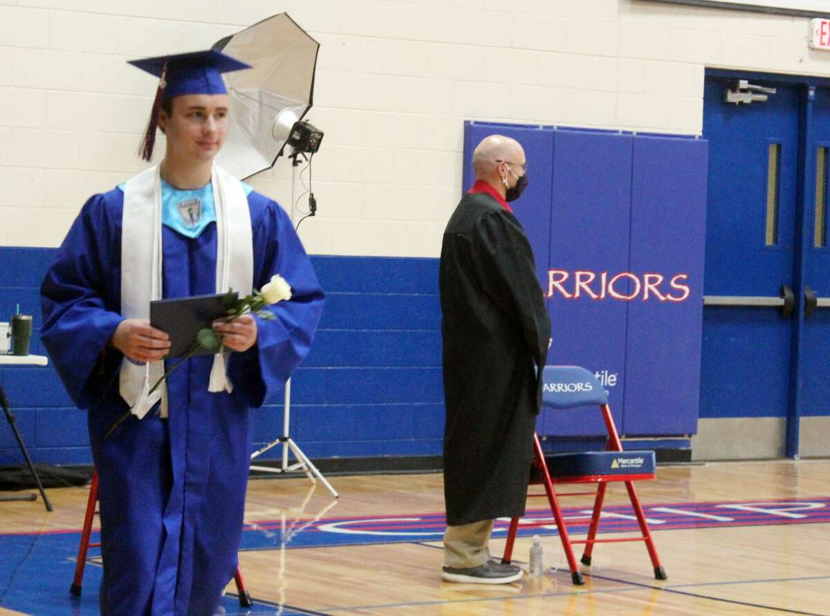 Chippewa Hills High School Class of 2020 seniors received their diplomas Thursday. The school hosted small group commencements, allowing students to graduate while still abiding by social distancing guidelines.