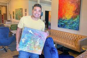 """Edgar Medina donated a piece titled """"Pushing the Limits"""" to the Art for All auction."""