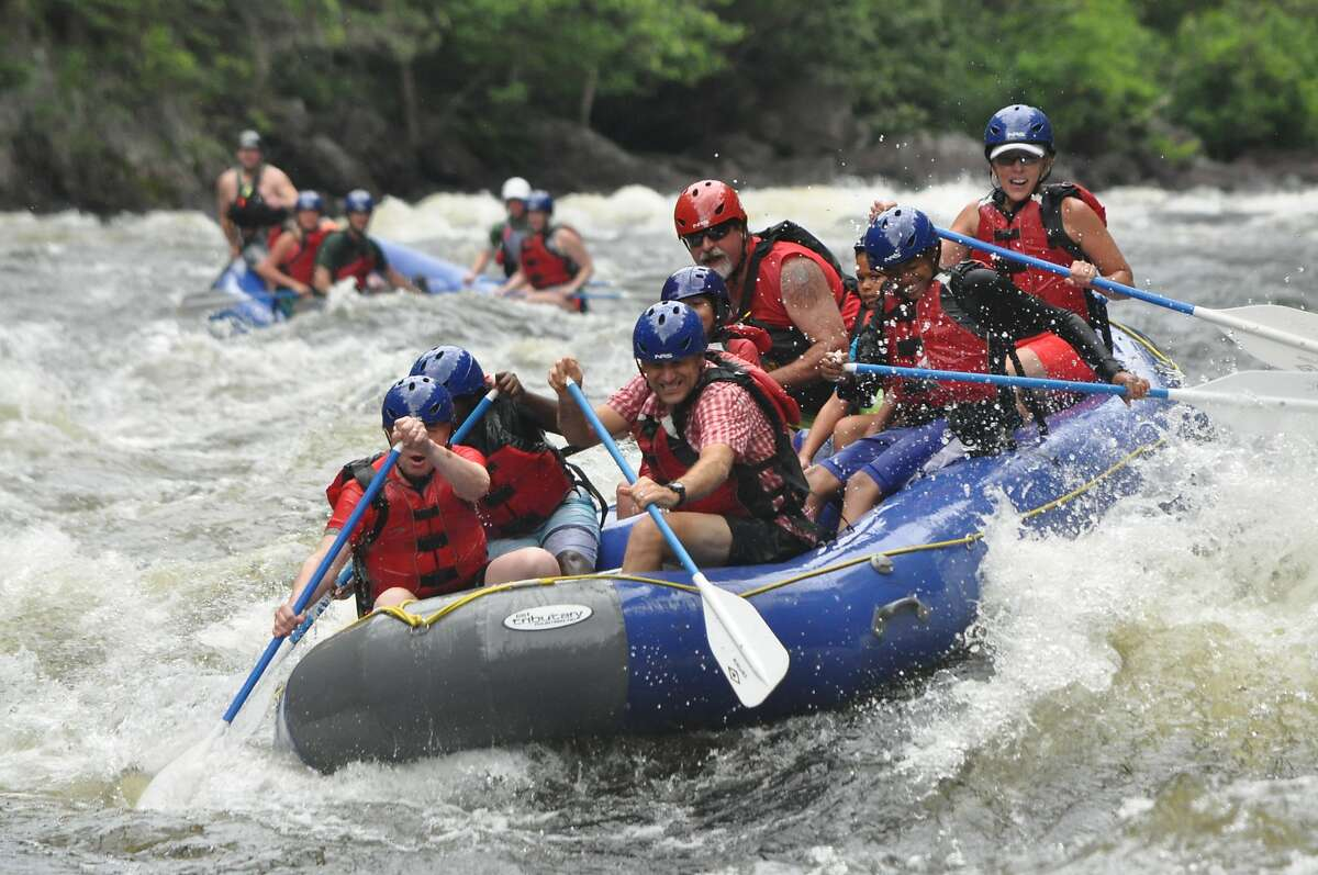The Fisher-Paulsons whitewater rafting with the SASBs. This trip earned�Stephanie Ann Schrandt Boone (SASB) the title of honorary aunt.