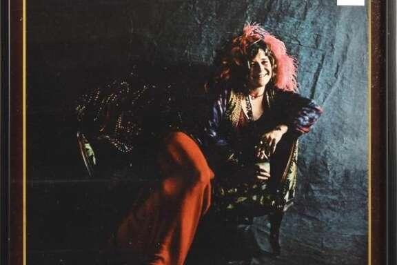 Janis Joplin Pearl Framed Album Cover Photo.