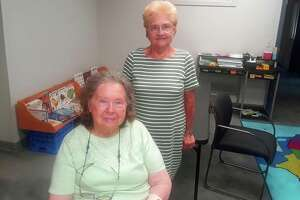 June Zeiner, seated, and Connie Hall, are two of the few remaining members of the Torrington Woman's Club. The group recently decided to disband.