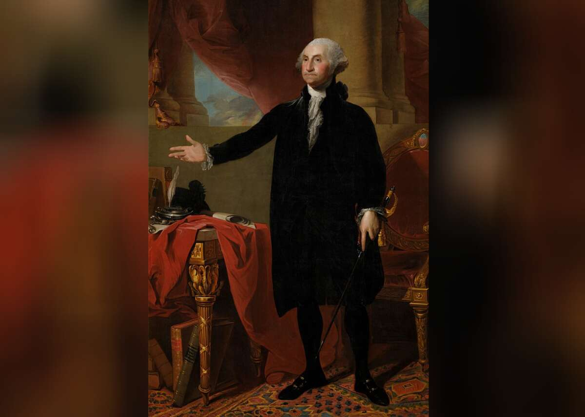 President: George Washington - Years active: 1789-1797 President George Washington's 8-foot portrait, painted by Gilbert Stuart, hangs not just on the White House walls, but is also one of the most reproduced images of all time. Abust-length representation has gracedthe face of $1 bill since 1869, reports the History Channel. The iconic first presidential portrait almost burned in flames during the War of 1812, but was saved by then-First Lady Dolley Madison, who risked her life to rescue the painting. This slideshow was first published on Stacker