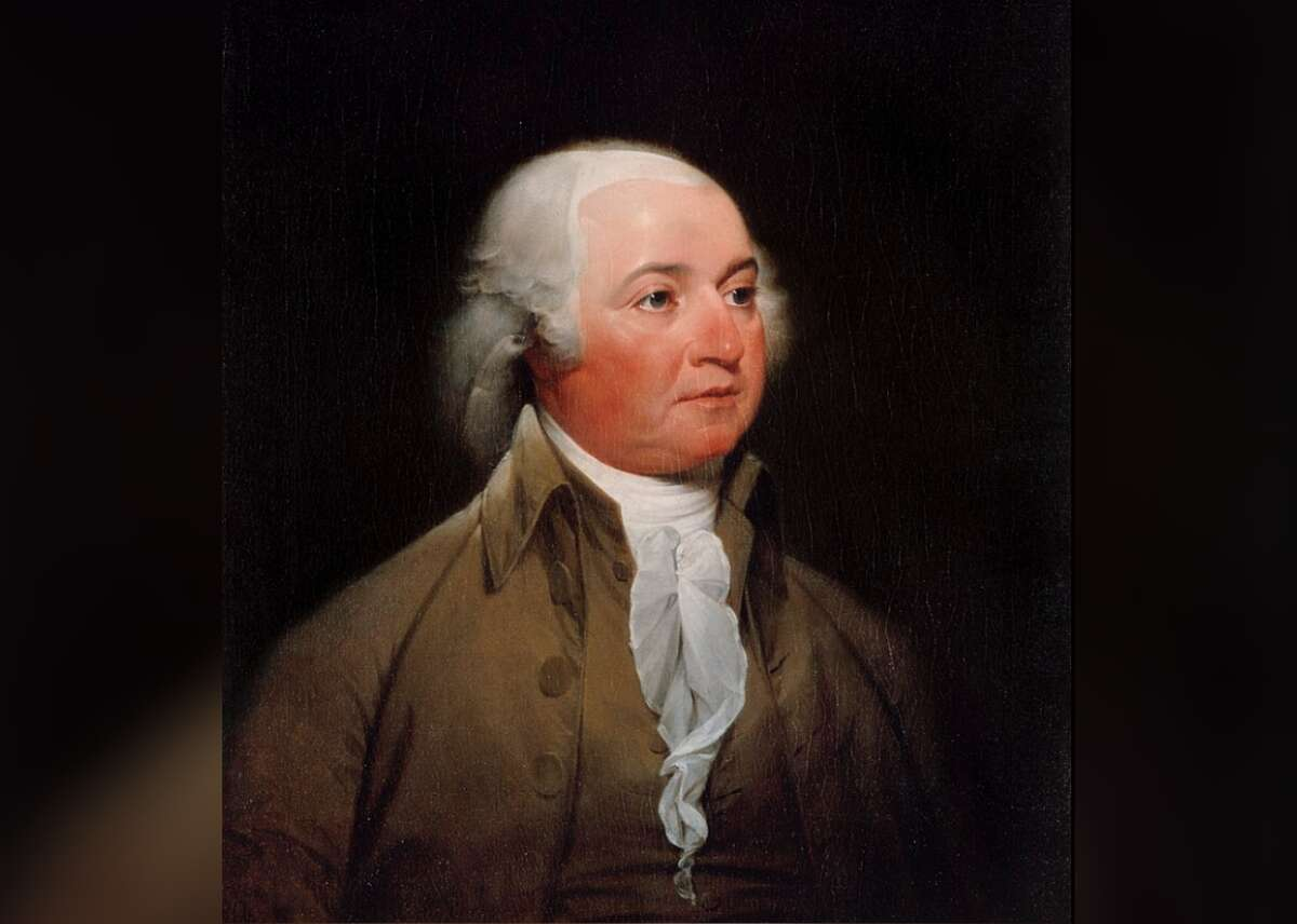 President: John Adams - Years active: 1797-1801 The portrait of second U.S. President John Adams, one of America's Founding Fathers, was duplicated from an original depiction of him when he was vice president under President George Washington in 1792-93. Painted in oil by John Trumbull on a 30 ?...? x 24-inch canvas, the portrait exudes the seriousness of the Harvard graduate, one-term president, and American Revolution leader. President Adams and his First Lady Abigail were the first couple to reside in the White House after its construction in 1800. This slideshow was first published on Stacker