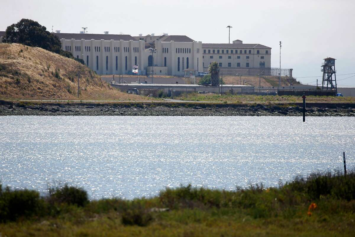 San Quentin State Prison is seen on Thursday, June 25, 2020. Confirmed COVID-19 cases inside the prison walls have skyrocketed prompting calls for the early release of prisoners serving time for low risk crimes nearing the end of their sentence.