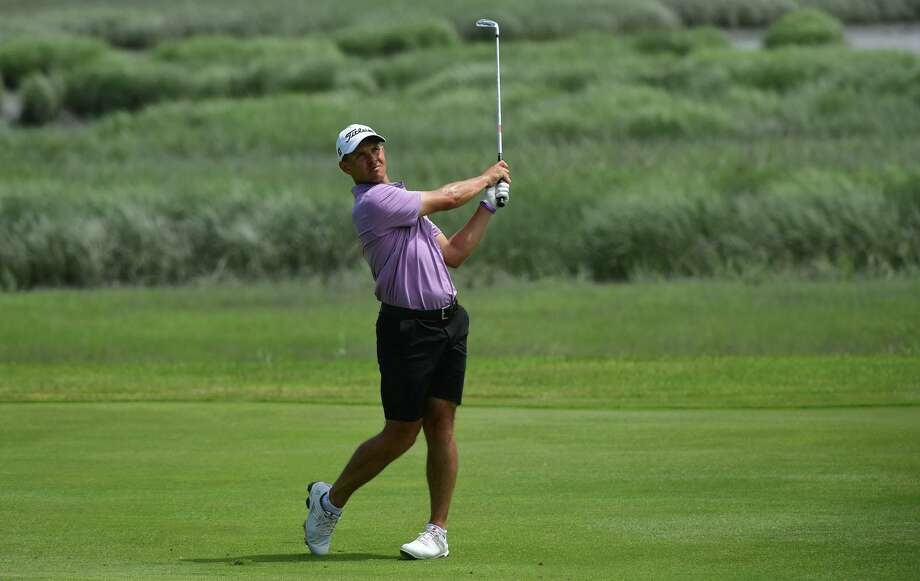 Cody Paladino comptetes against Chris Fosdick in the State Amateur golf final match Thursday, June 25, 2020, at Shorehaven Golf Club in Norwalk, Conn.