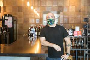 Sergio Monleon, chef-owner of poses for a photo at his restaurant in Berkeley, Calif. on June 25, 2020. The restaurant is preparing to reopen two weeks after three employees tested positive for COVID-19.