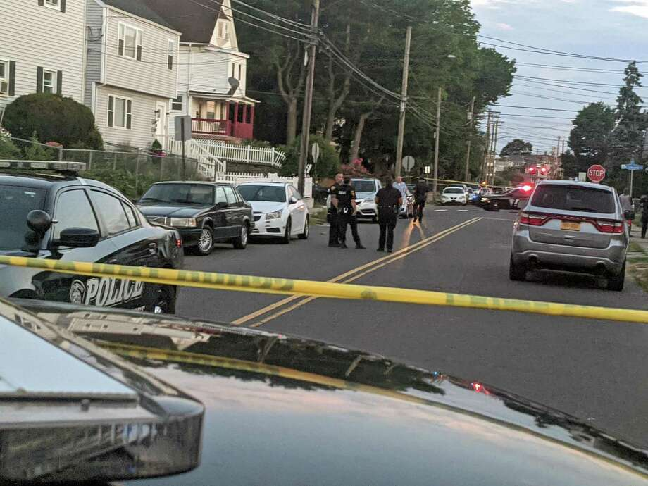 Police at a crime scene for a shooting in Bridgeport, Conn., on Thursday, June 25, 2020. Photo: Contributed Photo