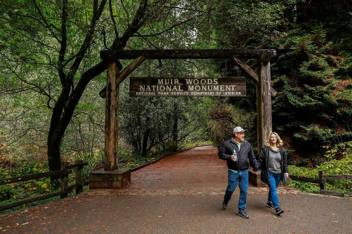 The entrance to Muir Woods in Mill Valley, California, on Monday, Dec. 9, 2019.