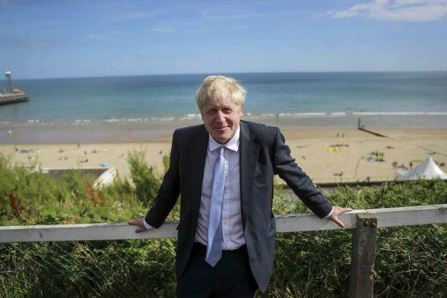 Britain's Prime Minister Boris Johnson poses for a photograph as he departs from a Conservative party leadership campaign event in Bournemouth, U.K., on July 2, 2019. Photo: Bloomberg Photo By Simon Dawson. / © 2019 Bloomberg Finance LP