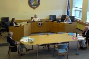 The Board of Selectmen had a discussion about filling a recent police commission vacancy Monday.